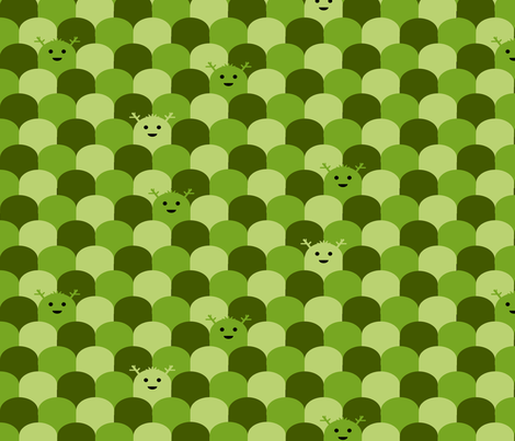 Monster Scallop - Olive fabric by jesseesuem on Spoonflower - custom fabric