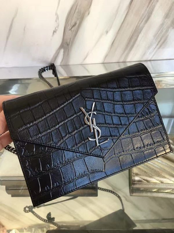 5cc55519e95b YSL SAINT LAURENT Crocodile Pattern women's handbags 19CM | YSL ...