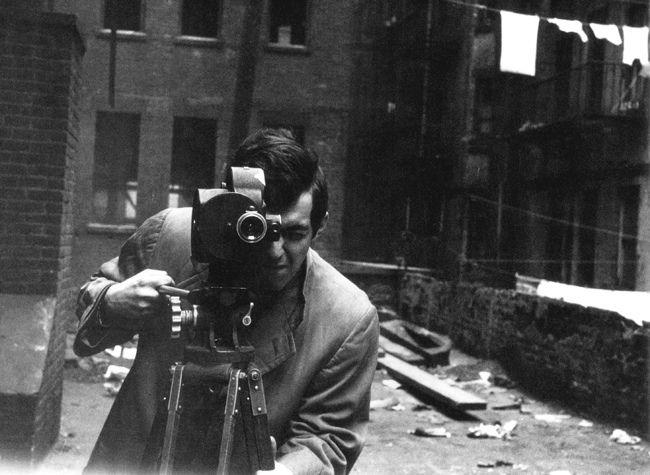 Kubrick sur le tournage du Baiser du tueur.