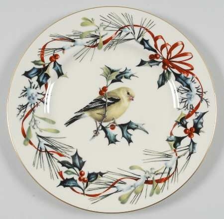 Lenox winter greetings goldfinch accent luncheon plate avian art lenox winter greetings goldfinch accent luncheon plate avian art collectible plates pinterest goldfinch xmas and christmas dcor m4hsunfo