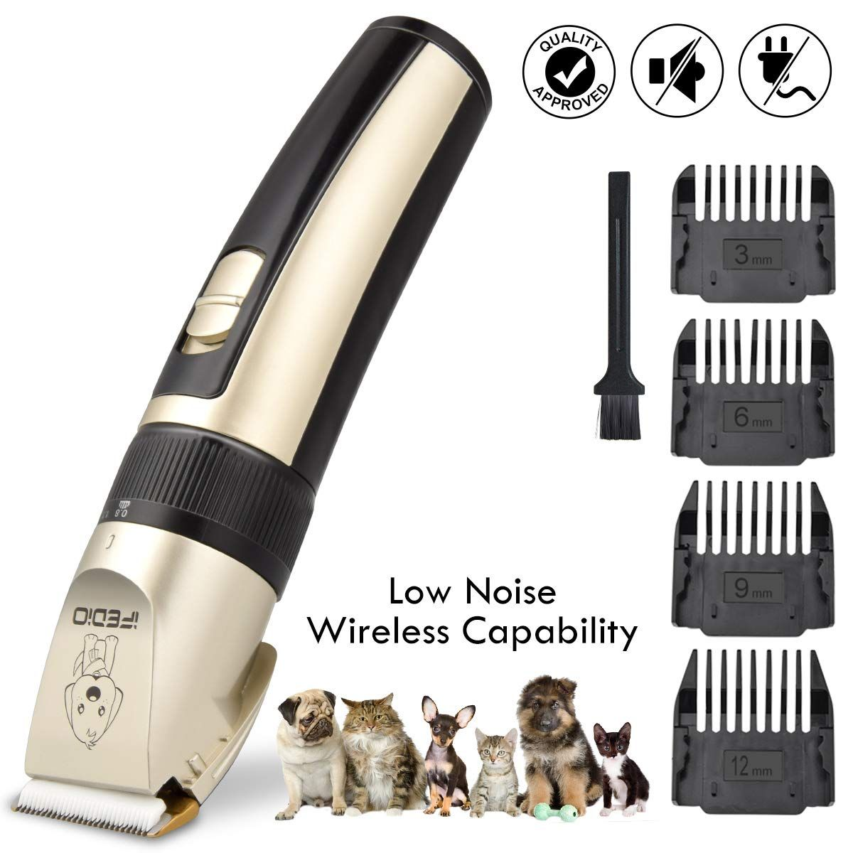 Ifedio Dog Grooming Kit Professional Hair Clipper For Dogs