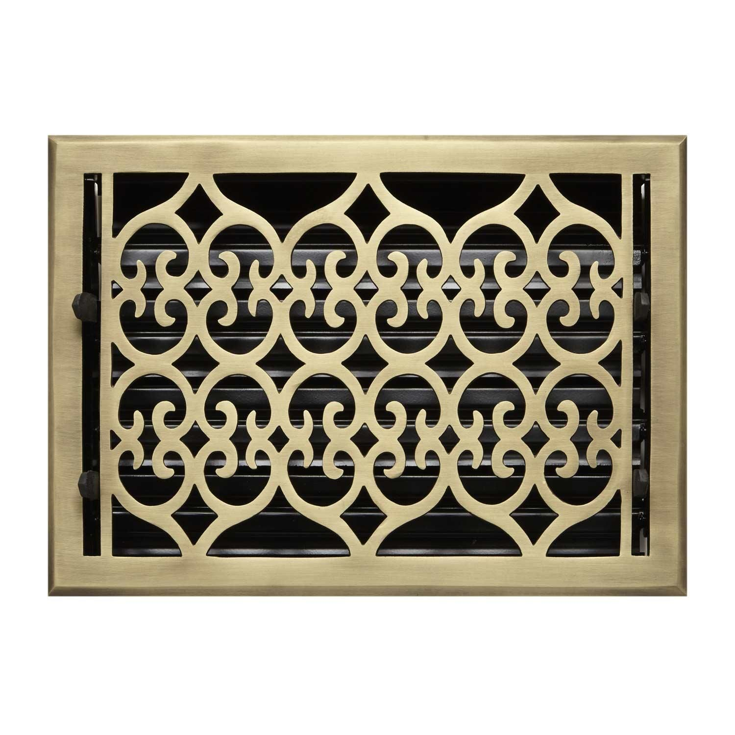 Signature Hardware Victorian Brass Wall Register