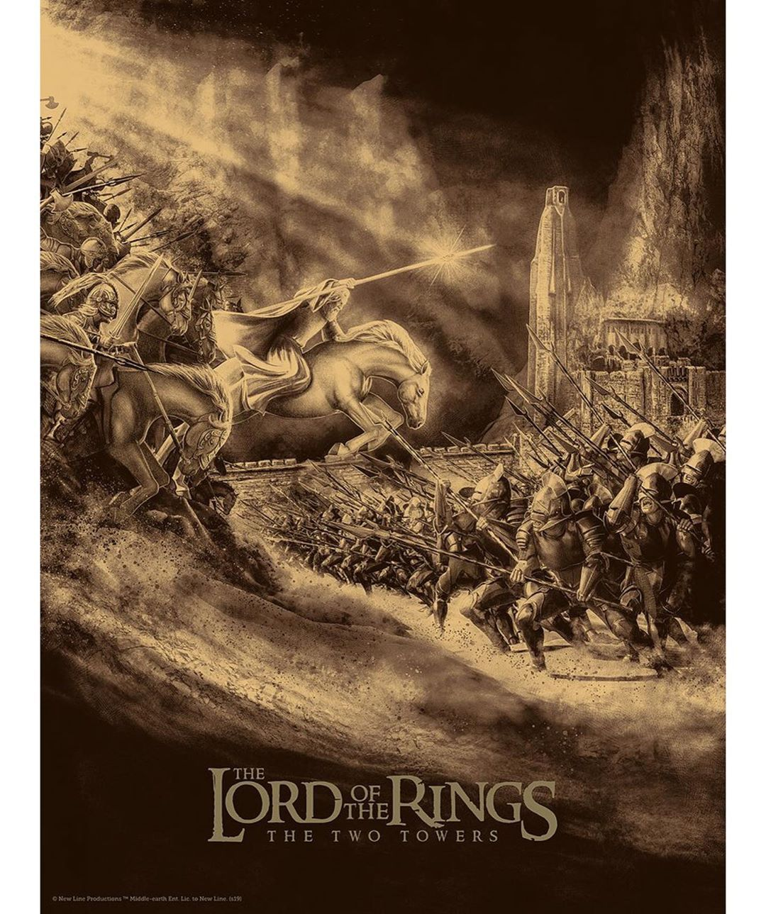The Lord of the Rings The Two Towers by skinnercreative