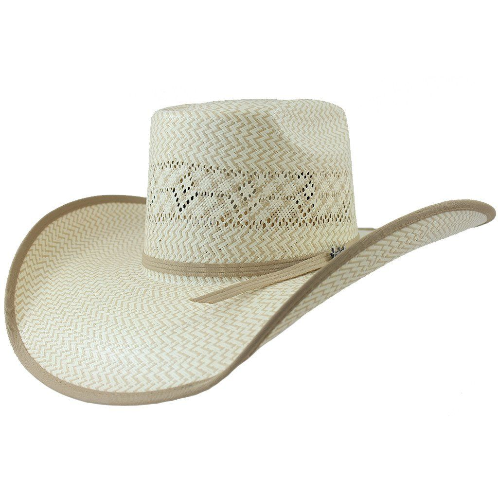 Tombstone Longhorn Zig-Zag Cowboy Straw Hat  2e65682cd7a