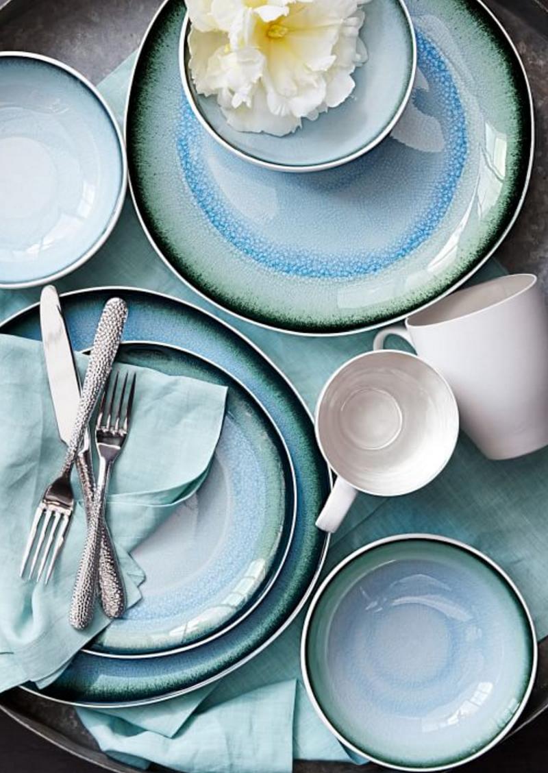 Organic Shaped Crackle Dinnerware | West Elm & Organic Shaped Crackle Dinnerware | West Elm | Nesting | Pinterest ...