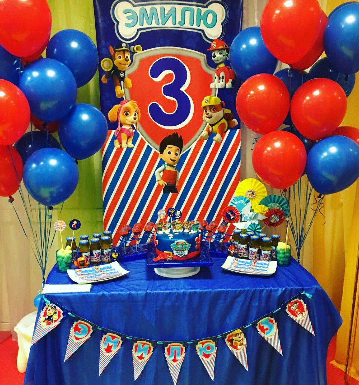 Paw Patrol Party Candy Bar Cake Com Imagens Mesa Patrulha