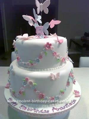 Beautiful Homemade Butterfly Birthday Cake Butterfly birthday