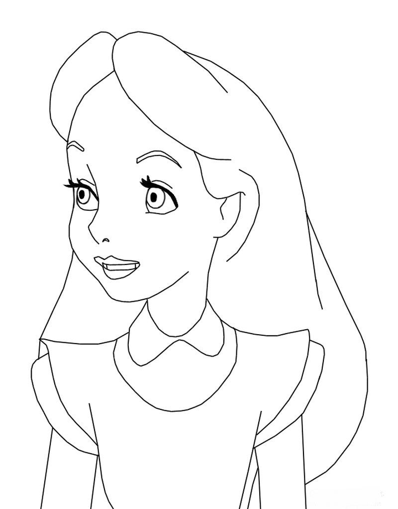 Alice And Wonderland Coloring Alice In Wonderland Drawings Disney Coloring Pages Alice In Wonderland [ 1022 x 800 Pixel ]