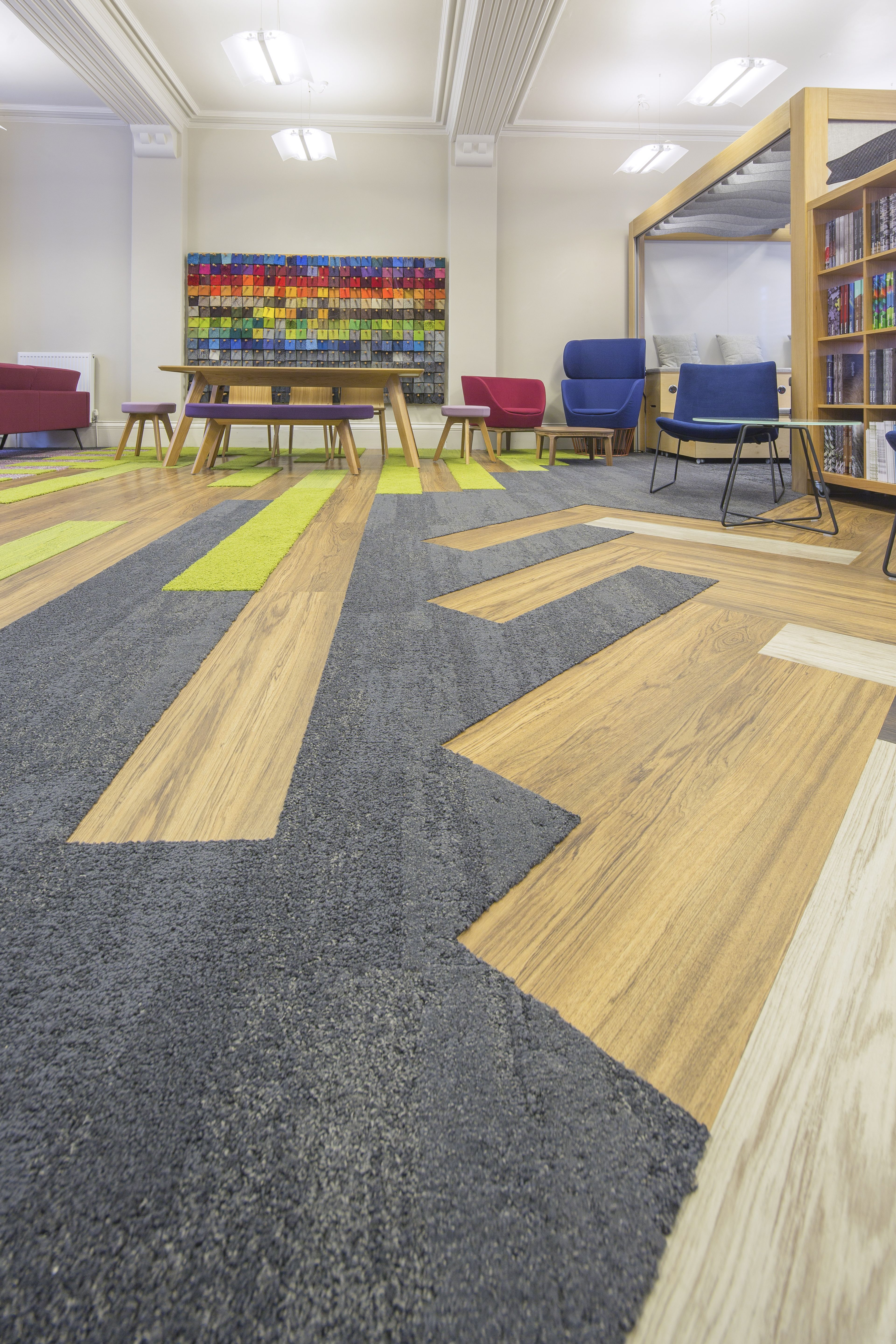 No better place to show different flooring solutions and