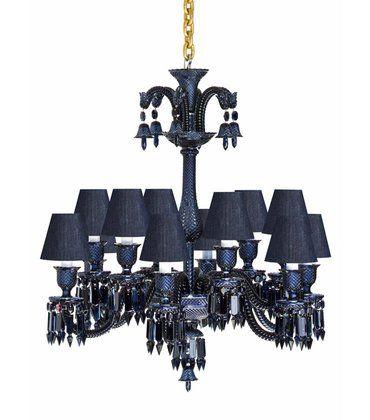 Baccarat Lustre Zenith Midnight  http://www.chaplins.co.uk/chandeliers/