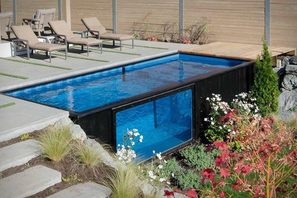 Bildergebnis f r container pool teichanlagen pinterest casas piscinas y contenedores - Contenedores maritimos usados baratos ...