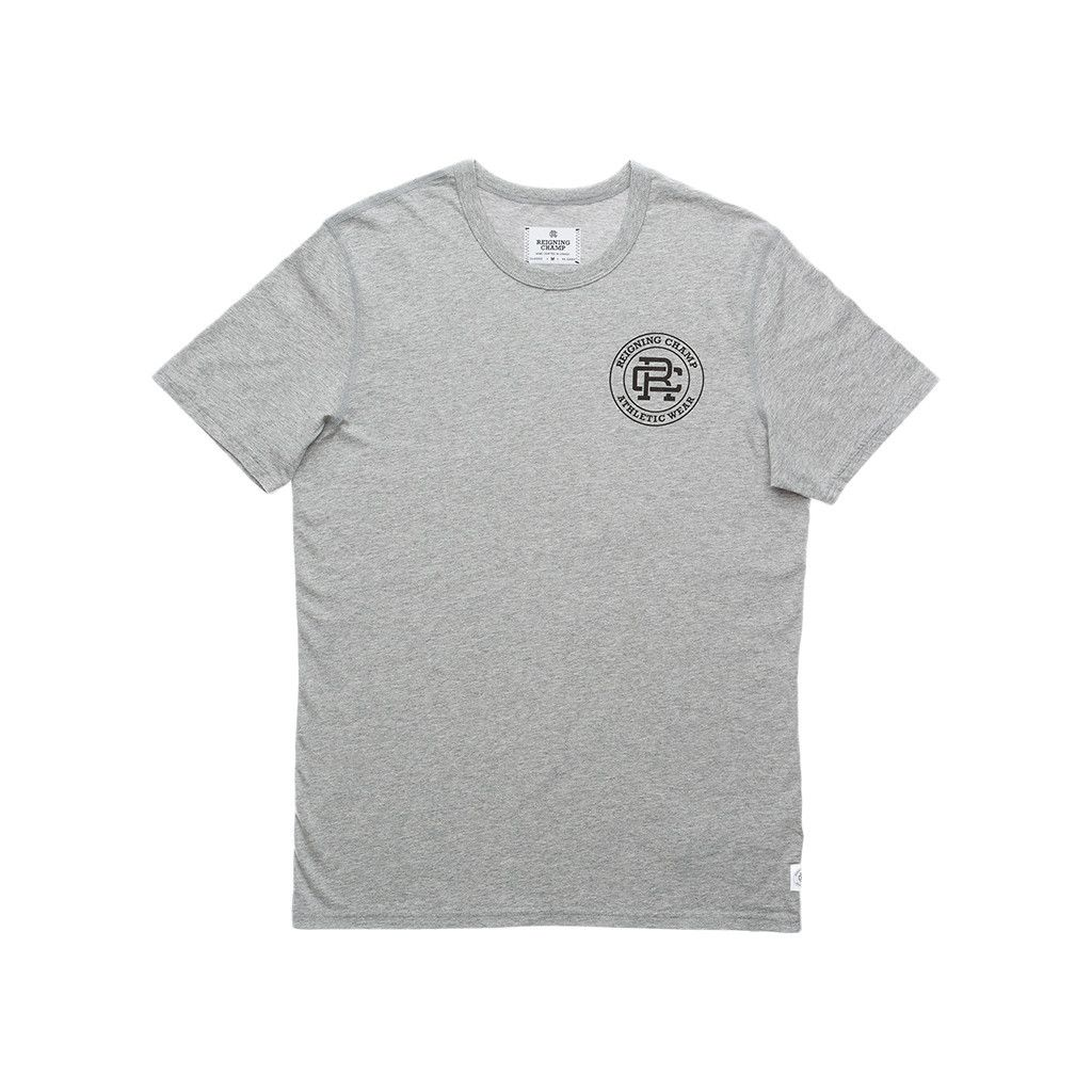 SS SET-IN CREST TEE - HEATHER GREY | Reigning Champ