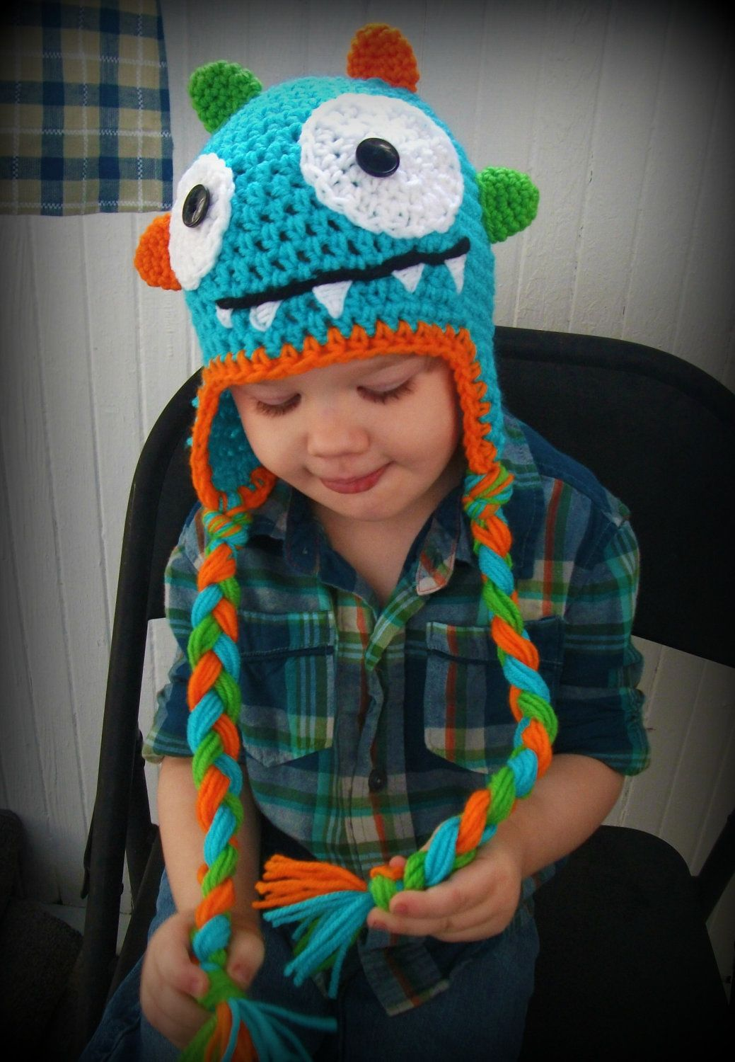 FREE SHIPPING Monster Hat-crochet baby hat-crochet hat-photography ...