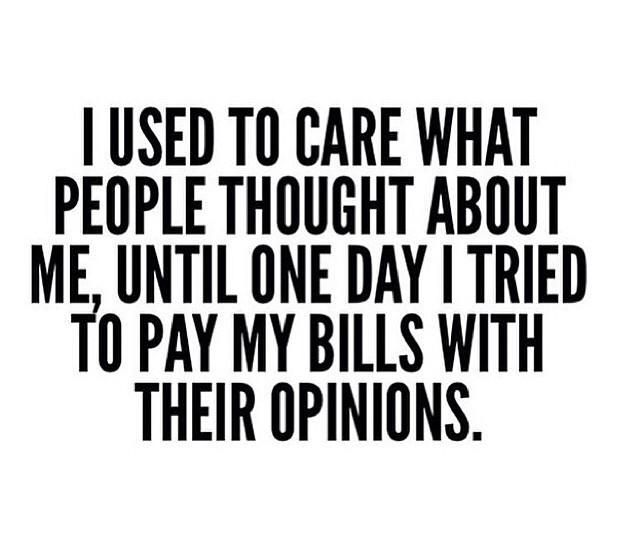 I Used To Care What People Thought About Me, Until One Day
