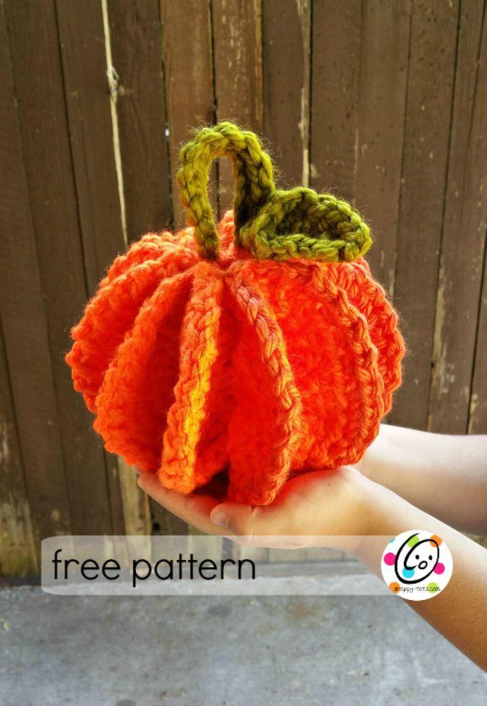 Free Pattern: Scrubbie and Jumbo Pumpkins | Pulsera de ganchillo ...