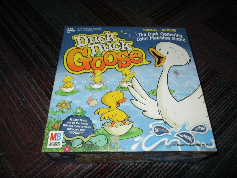 MILTON BRADLEY DUCK, DUCK GOOSE GAME, DUCK GATHERING, COLOR MATCHING GAME, GUC…