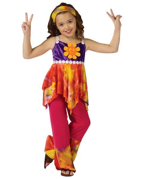 Girls Tie Dye Hippie Costume abbys halloween costume ideas
