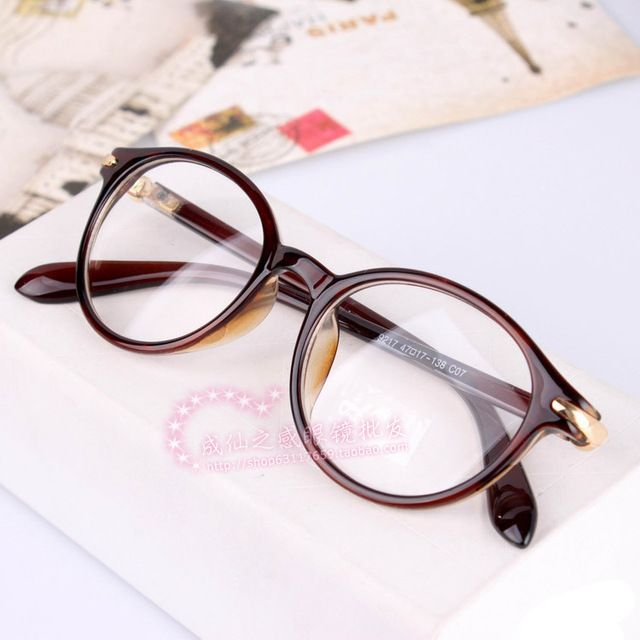 13a7deac7e927 Novos vidros do vintage óculos simples miopia óculos de armação oculos de grau  femininos da moda vidros ópticos frete grátis A0010