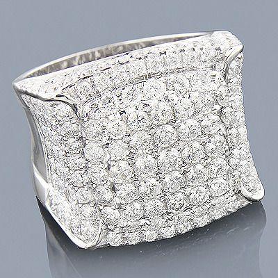 14k Expensive Mens Diamond Ring 5 63ct