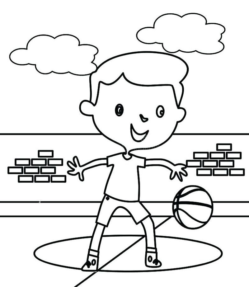 Basketball Court Coloring Pages Sports Coloring Pages Bunny Coloring Pages Sunday School Coloring Pages