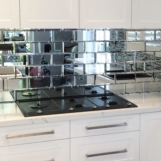 how glitzy and glamorous does jo 39 s new kitchen splashback. Black Bedroom Furniture Sets. Home Design Ideas