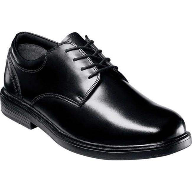 Nunn Bush Men's Eddy 84153 Plain Toe Lace Up Black Smooth