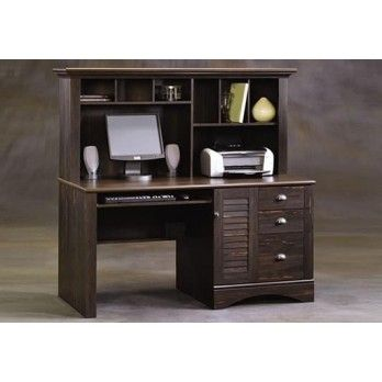 sauder harbor view collection computer desk with hutch office depot