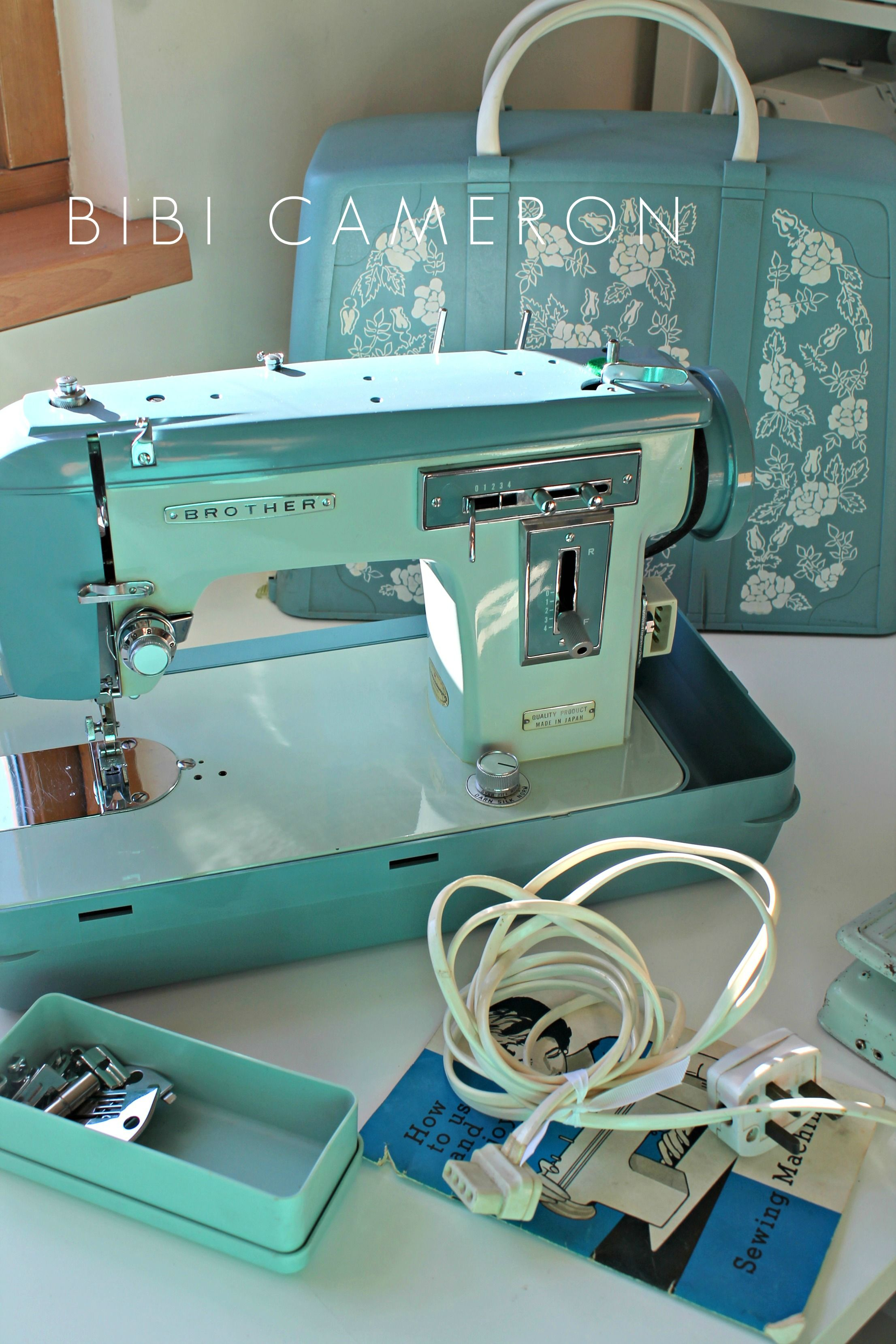 Original Brother Sewing Machine J A 28 With Hard Plastic Cover Case Sewing Machine Vintage Sewing Machines Brother Sewing Machines
