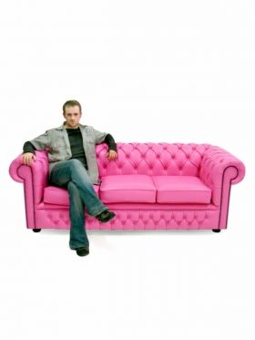 Hot Pink Chesterfield Sofa 3 Seater