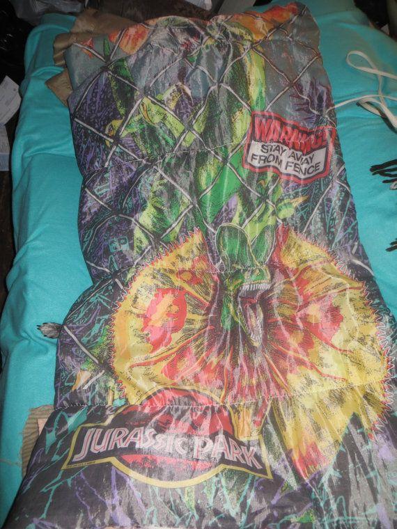 sale retailer 62dae 68ee9 Vintage Jurassic Park Sleeping Bag 1992 | ETSY VINTAGE ...