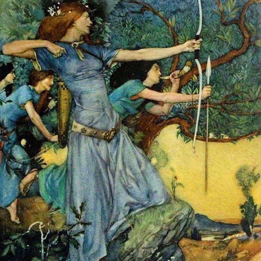 Vintage Illustration Gallery On Instagram Lizziemontgomerydesign William Russell Flint Le Mort D Arthur In 2020 Pre Raphaelite Art Literature Art Fantasy Art