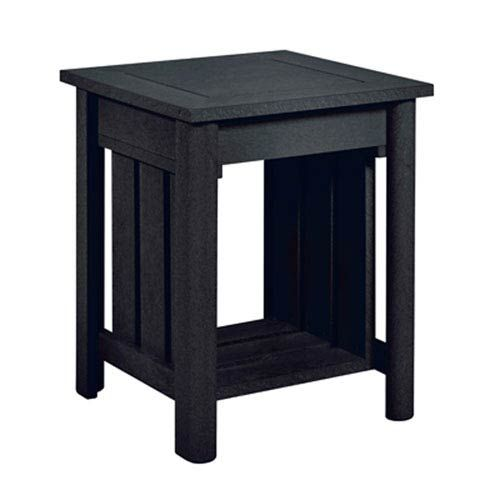 C.R. Plastic Products Stratford End Table, Black