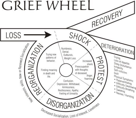 The Grief Wheel grief bearevement Grief and Loss – Grief and Loss Worksheets