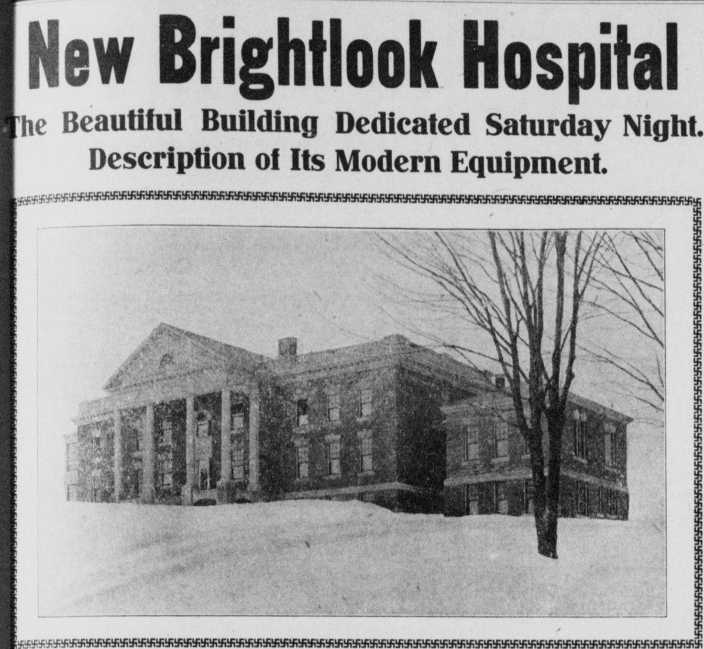 New Brightlook Hospital 1908 Vermont Hospital Historical