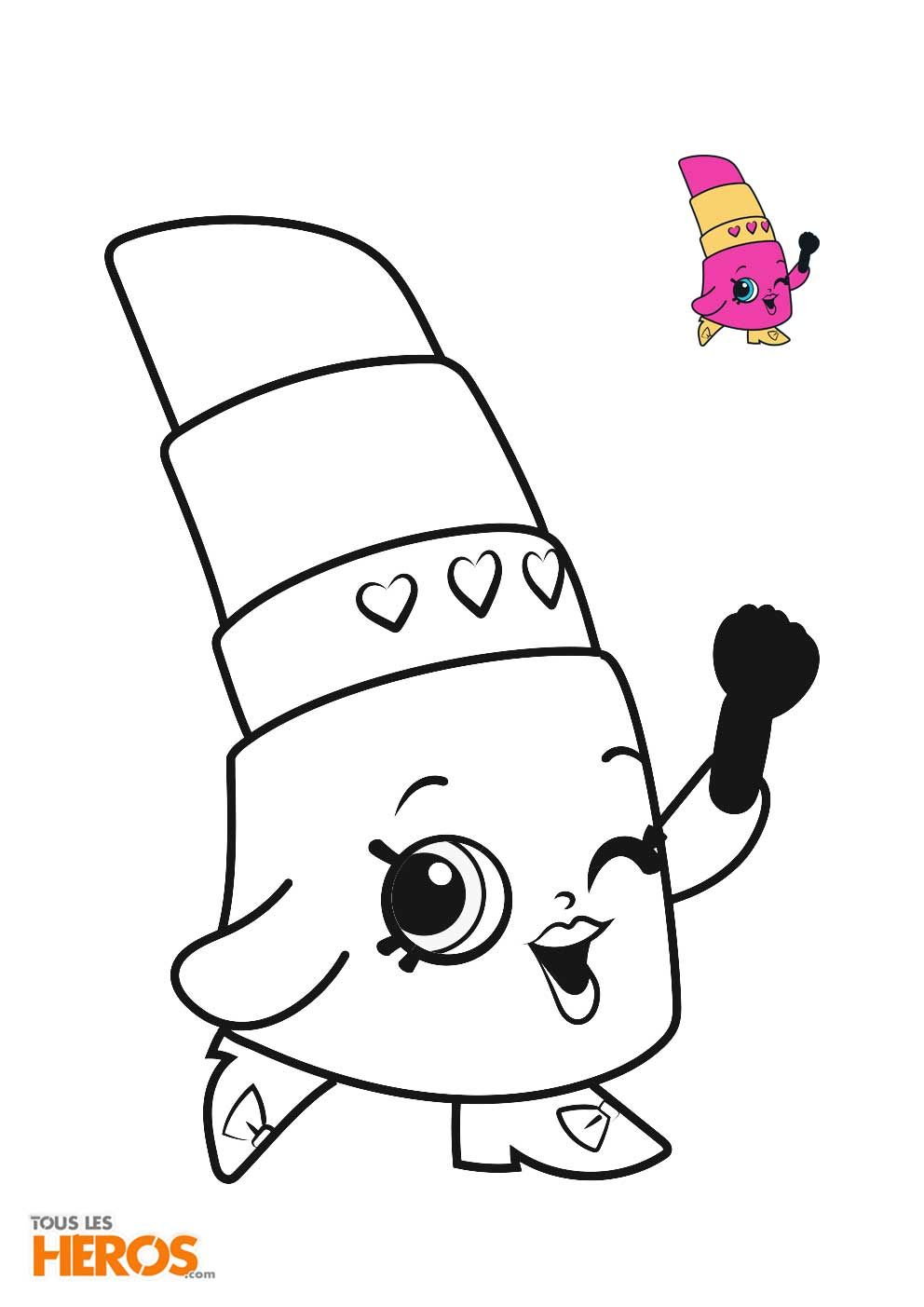 Shopkins Pictures For Coloring Beautiful Unique Lippy Lips