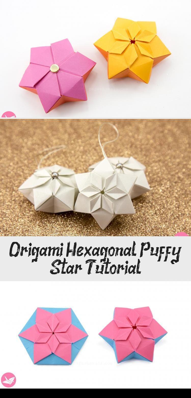 Photo of Origami Hexagonal Puffy Star Tutorial – Papier Kawaii #origamiBag #origamiDinosau …