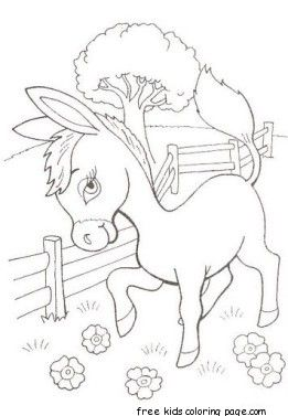 Printable Donkey Coloring Pages Preschool Bible Coloring Pages Family Coloring Pages Horse Coloring Pages