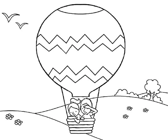 Aneka Gambar Mewarnai 15 Gambar Mewarnai Ayam Untuk Anak Paud Dan Tk Balon Udara Halaman Mewarnai Buku Mewarnai
