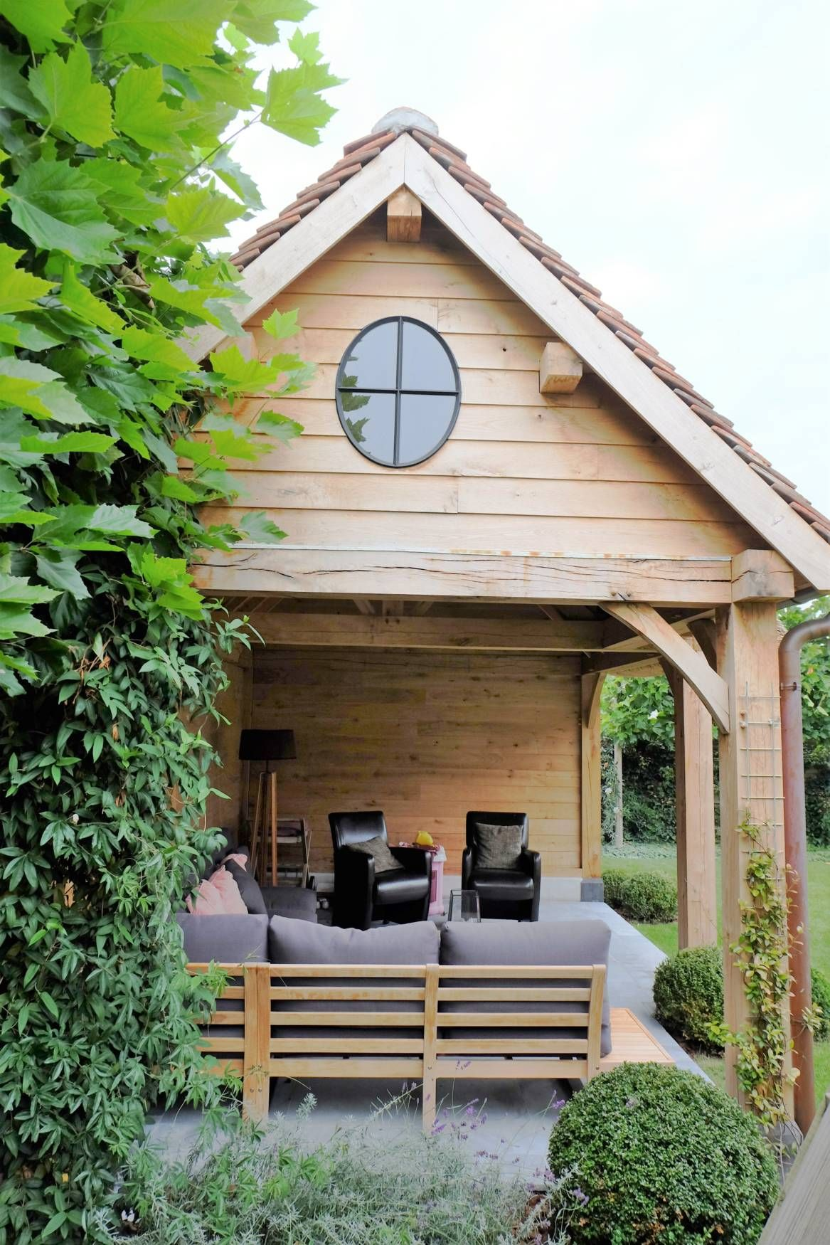 Vanhauwood Landelijk Tuinhuis Met Overdekte Zitplaats 2 Buitenhuis