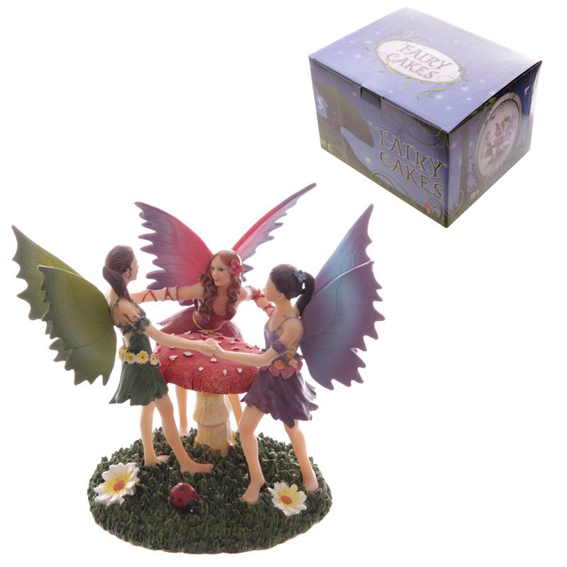 Dancing Fairies Fantasy Fairy Cakes Figurine