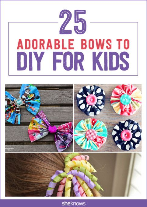 25 Adorable hair bows moms can DIY #hairbows