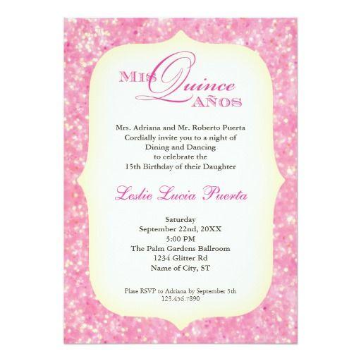 15 Quinceanera Birthday Invitation