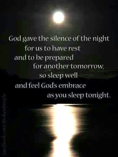 Talk to Him before you pass out in bed :) thank Him for the day & blessings & more ..... Pray!