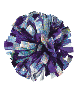 Flashly In Stock Two Color Mixed Holographic Cheerleading Pom Poms Cheerleading Pom Poms Cheer Pom Poms Pom Pom