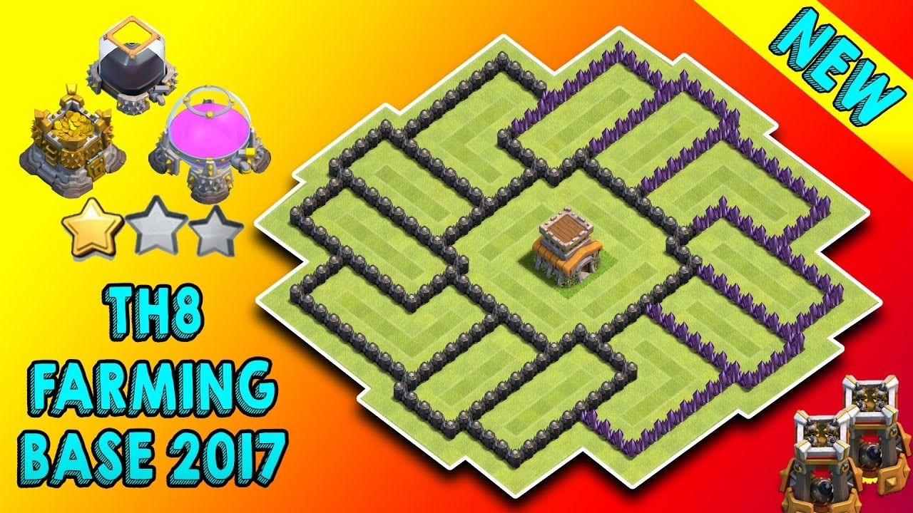 town hall 8 farming base 2017