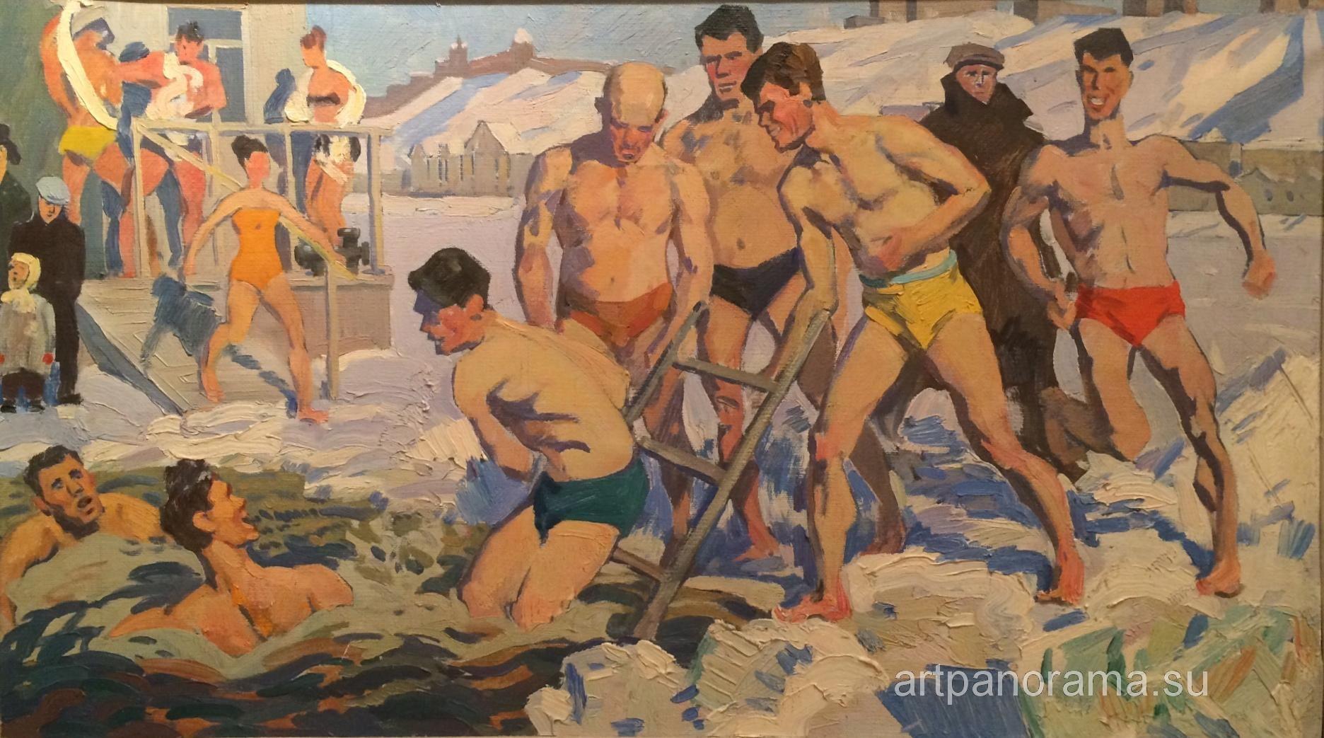 1960's 'Walruses-2', by Gennady Grishin (Vyksa, Nizhny Novgorod region 1932~2009)