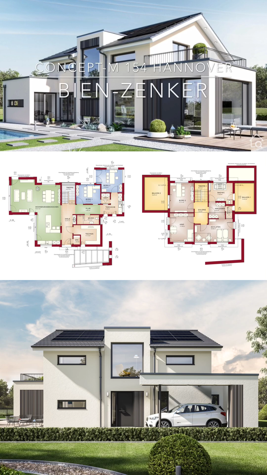 Modernes Fertighaus Mit Satteldach Bauen Haus Ideen Design Innen Aussen M Aussen B In 2020 House Construction Plan Architecture House Modern House Plans