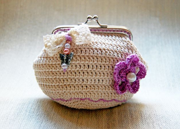 Tutorial monedero crochet con boquilla - Imagui   Monederos Crochet ...