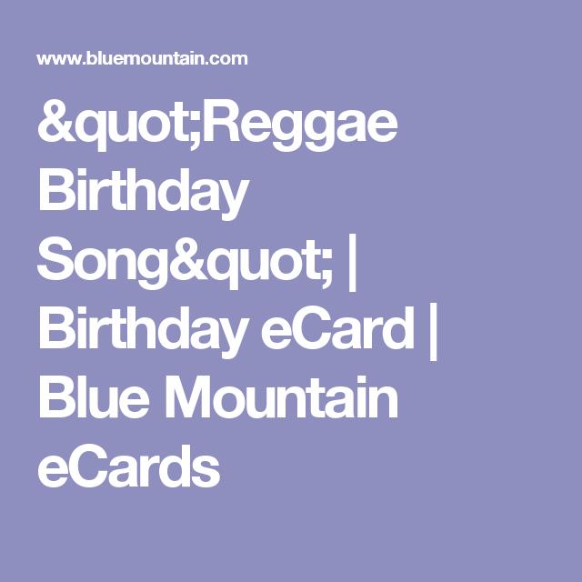 Reggae Birthday Song