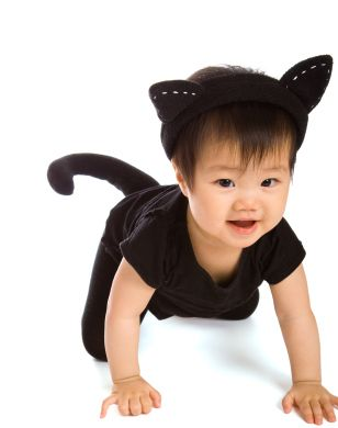 girl cat halloween costumes diy halloween costume ideas for babies and toddlers - Cat Outfit For Halloween